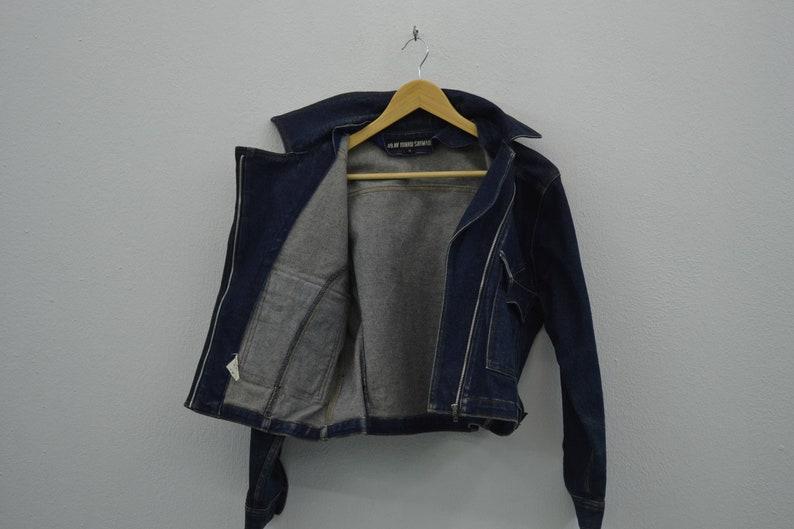 Junko Shimada Jacket Women Size SM Vintage Junko Shimada Denim Jacket 49 AV Junko Shimada Vintage Biker Jeans Jacket Made in Japan Size 9