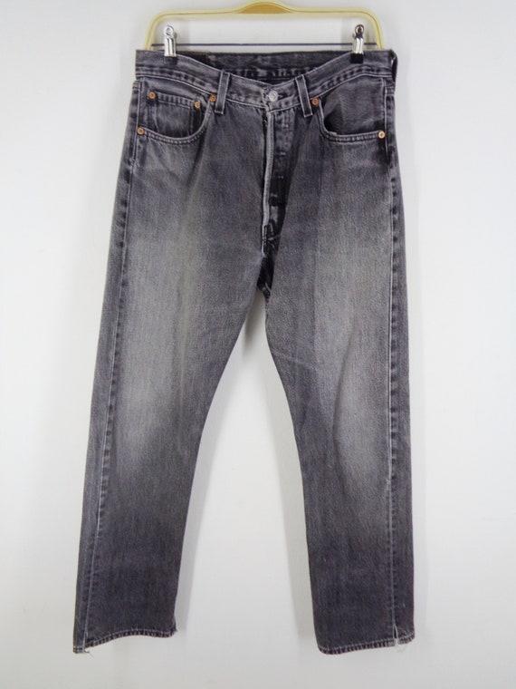 Levis 501 Jeans Distressed Vintage Size 33 Levis … - image 4