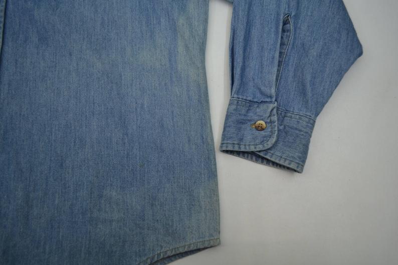 Big Mac Shirt Vintage Big Mac Denim Shirt Big Mac Vintage Jeans Workwear Shirt Made iIn USA Size L
