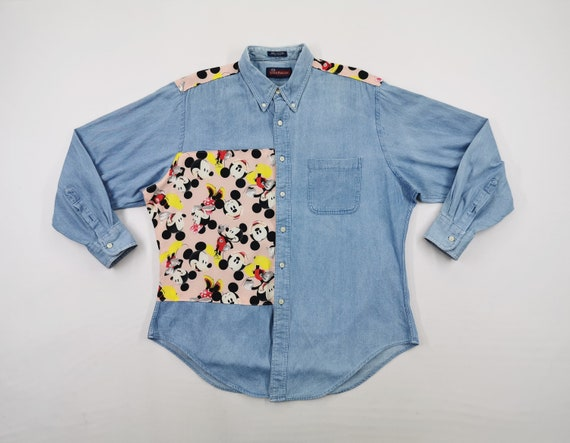 Smith Forester Shirt Vintage Mickey Mouse Button S