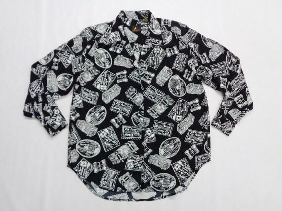 Lizsport Shirt Vintage Lizsport Over Print Button