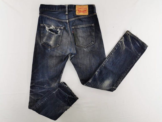 Levis 501 Jeans Distressed Size 28 Levis 501 Denim