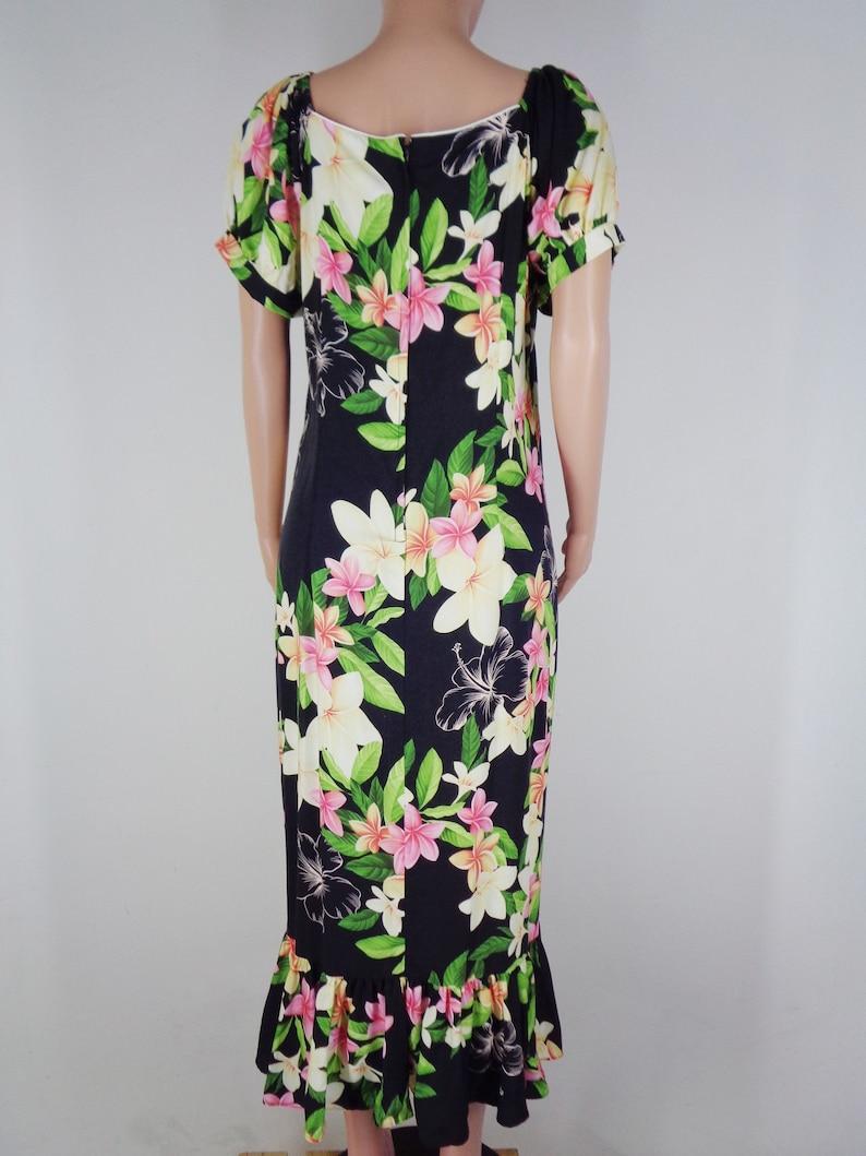Two Palms Dress Vintage Two Palms Dress Vintage Two Palms Made In Hawaii Women Floral Hawaiian Dress Size Women XL