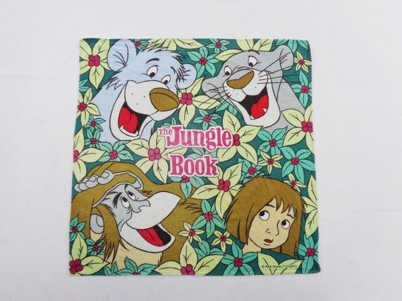 Man Handkerchief,Ladies Handkerchief,Gift for her hankey Vintage the jungle book handkerchief Vintage Handkerchief Cotton Handkerchief