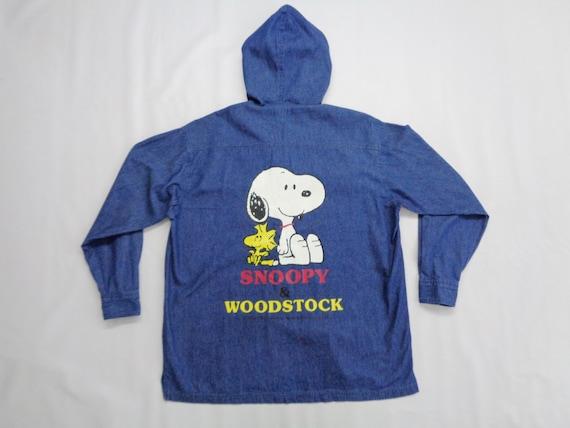 Snoopy Jacket Vintage Snoopy & Woodstock Zipper Ja
