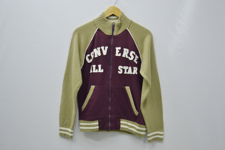 d1d46219ffdd0 Converse Jacket Converse Sweater Womens Size M Converse All Star Big Logo  Jacket