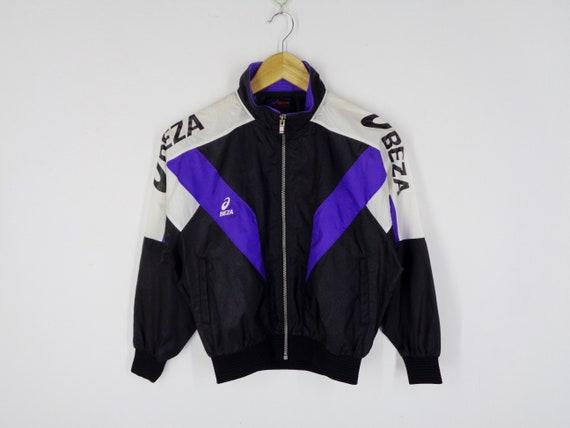Asics Jacket Vintage Size 140 Vintage Asics Beza Windbreaker   Etsy