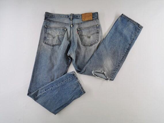 Levis 501 Jeans Distressed Vintage Size 33 Levis 5