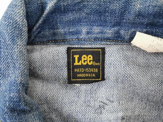 Lee Jacket Distressed Vintage Lee Denim Jacket Vi… - image 5