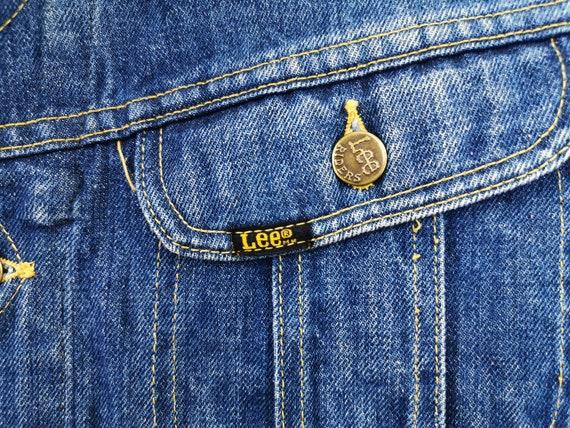 Lee Jacket Distressed Vintage Lee Denim Jacket Vi… - image 7