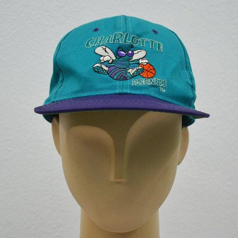 Hornets Hat Vintage Charlotte Hornets Snapback Hornets Vintage  d208022a0a4