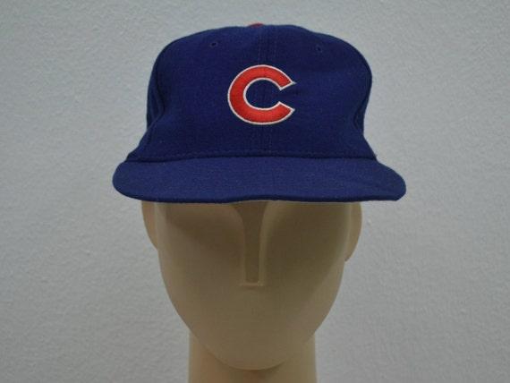 Chicago Cubs Hat Vintage Cubs New Era Wool Hat Cubs Vintage  0bf4e0b5764