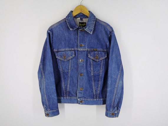Wrangler Jacket Distressed Vintage Size 40 Wrangle