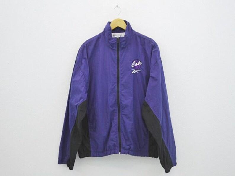 393826d665e63 Reebok Windbreaker Size L Vintage Reebok Jacket 90s Reebok Vintage Cats  Basketball Activewear