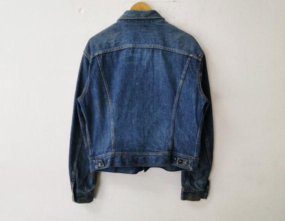 Lee Jacket Distressed Vintage Lee Denim Jacket Vi… - image 3