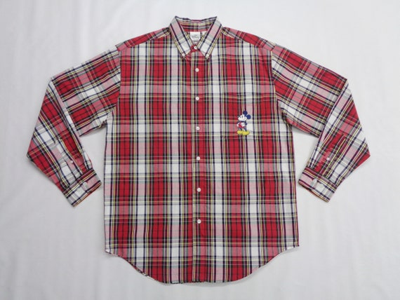 Mickey Mouse Shirt Vintage Mickey Mouse Button Dow
