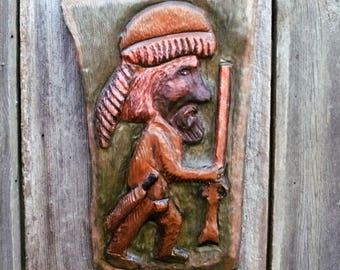 Daniel Boone Carving in Sugar Pine