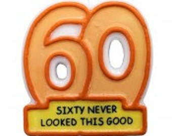 60th Birthday Candles cake topper party supplies sixty