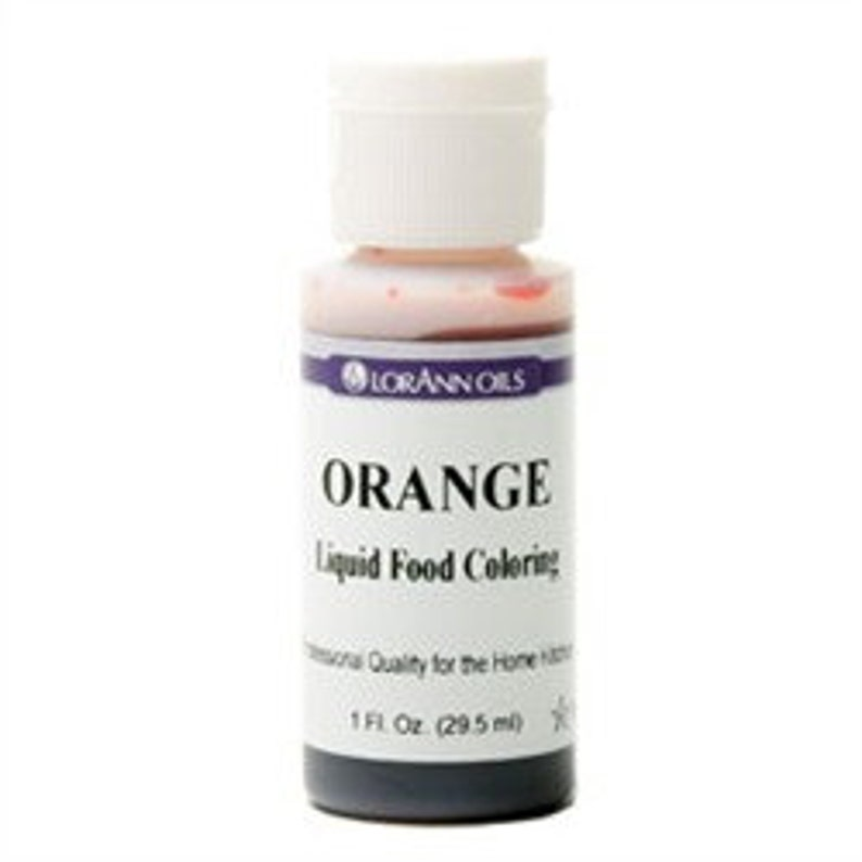 1 Oz Orange Liquid Food Coloring From Lorann Oil Baking Frosting Icing Cakes Cookies Cupcakes