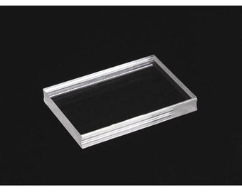"""SET OF 2 - 1 3/4"""" x 1 3/4"""" and 1 3/4"""" x 3"""" See Clear Acrylic Blocks for see thru Stamps clear rubber stamps mount"""