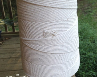 1,560 Feet • 24-Ply Thick 100% Natural Cotton/Poly Baker's Twine / String 2 Lb. Cone • Bakery String • Box String • Food Safe • Deli String