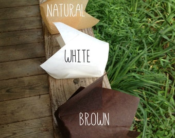 """2"""" x 3-1/2"""" Chocolate Brown • Natural • White Tulip Cupcake Baking Cups • Liners  • Cupcakes • Muffin Cup • Birthdays • Weddings"""