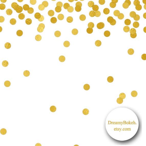 gold foil confetti digital paper frames borders small circles 12x12