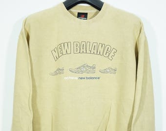 887f089467830 Vintage New Balance Shoes Sweater SIze Medium M / New balance Sweater /  Runners Run Vtg Running /