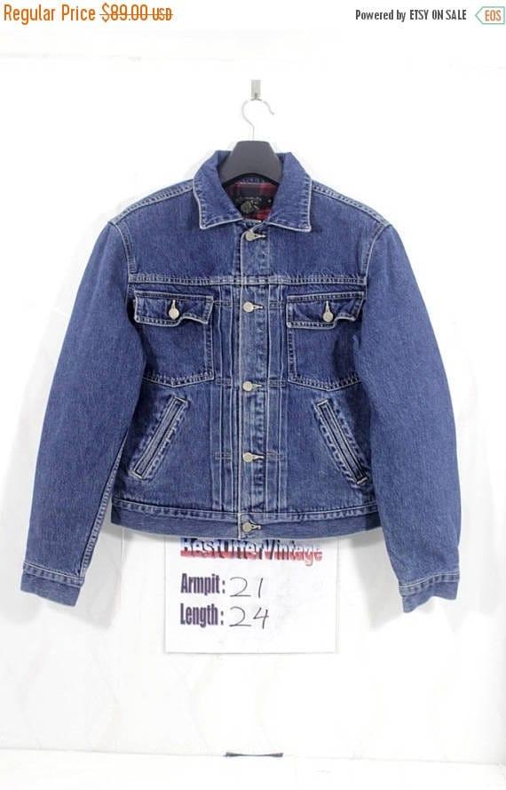 BiG SaLe Vintage 90s polo ralph lauren Denim Jacket Size Small S / stadium p / wing bear ski / beach snow / k swiss 1992 / spellout usa / fl oFsc8