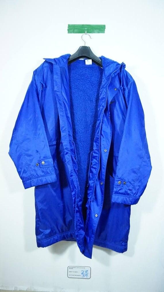 a67b1928c29b1 Vintage 80s/90s Nike Sherpa Long Windbreaker Jacket Size Large | Etsy