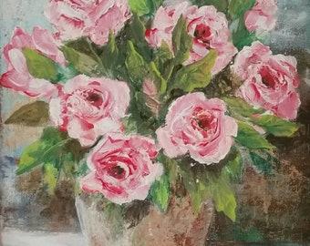 Original Rose painting 11x14