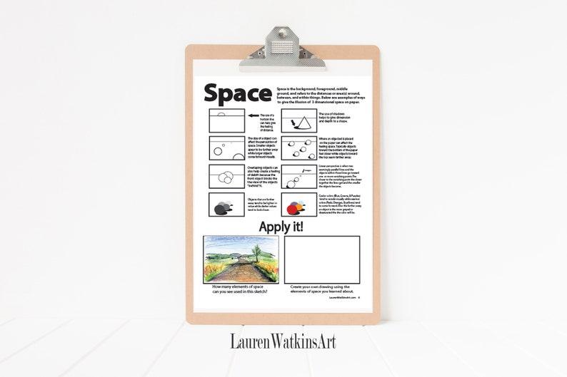 Elements of art worksheet packet TEACHERS LICENSE - Homeschooling Art  Lessons - Art Education - learning the basics of art