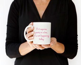 Custom Coffee Mug, Personalized Gift, Exhausted