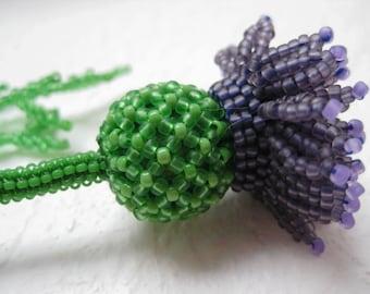 Beaded Flower - Thistle
