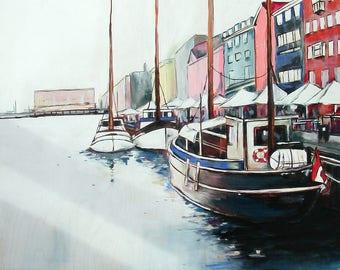 Boat Painting - Toronto Artist - 24 X 30