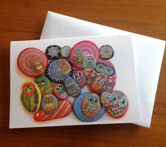 I Sassi dell'Adriatico - Greeting Card - Painted stones Mix -