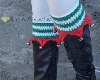 Crochet Pattern- Christmas Elf Boot Cuffs