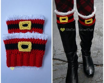 Crochet Pattern- Holiday Cheer Boot Cuffs
