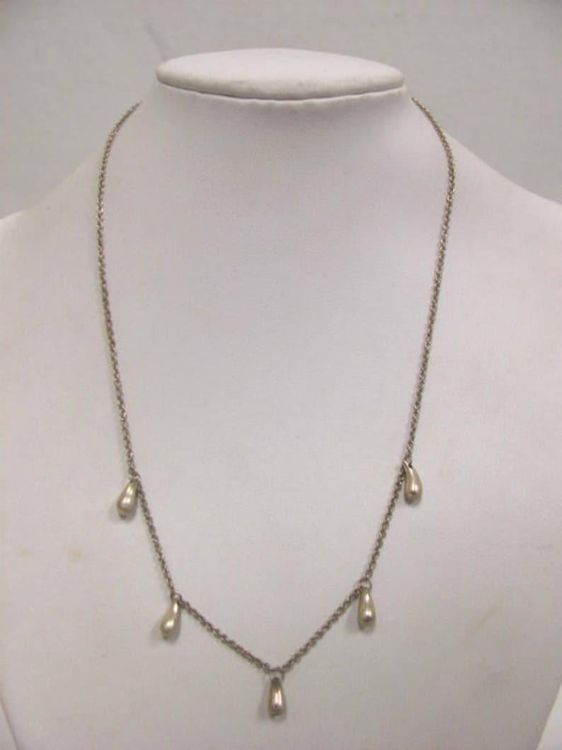 3d5239379 Tiffany & Co. Sterling Silver Elsa Peretti Teardrop Necklace | Etsy