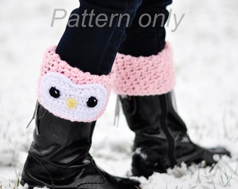 Penguin Boot Cuff Crochet PATTERN No 301_Not the Actual Item, Penguin (2 Styles) Wear Up or Fold Down Cuffs: 5 Sizes- Toddler to Adult Large