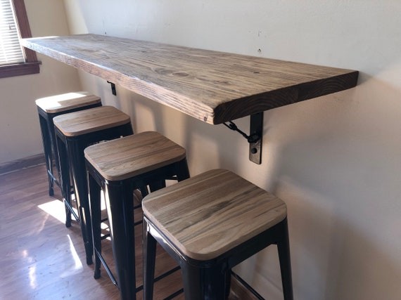 Wall Hanging Dining Table Buffetschool Desk Breakfast Nook Etsy