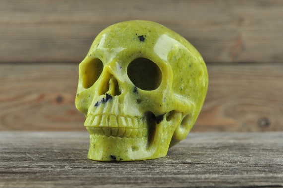 Natural Jadeite Crystal Skull