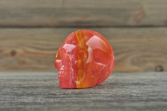 Beautiful and Unique Smelt 'Quartz' Skull, Mini