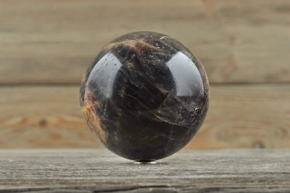 Black Moonstone Sphere, 2.2 inches!
