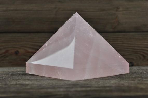 Beautiful Rose Quartz Pyramid, 3.25 inches!