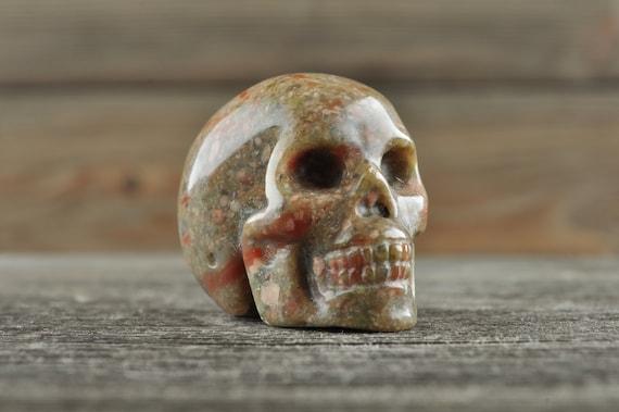 Natural Realistic Brecciated Jasper Crystal Skull, Mini!