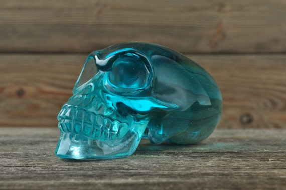Blue Obsidian Alien Starbeing Crystal Skull, Large!