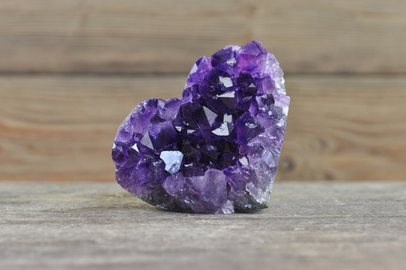 Beautiful, AA Quality, Amethyst Heart