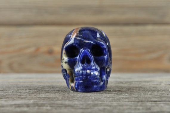 Natural Sodalite Crystal Skull, Mini