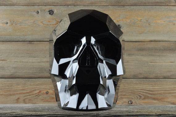 AMAZING Black Obsidian CUSTOM MADE Faceted Crystal Skull, Titan!
